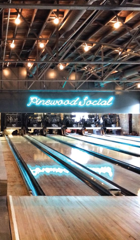 The coolest retro-style bowling alley    Neat/cute/haha in