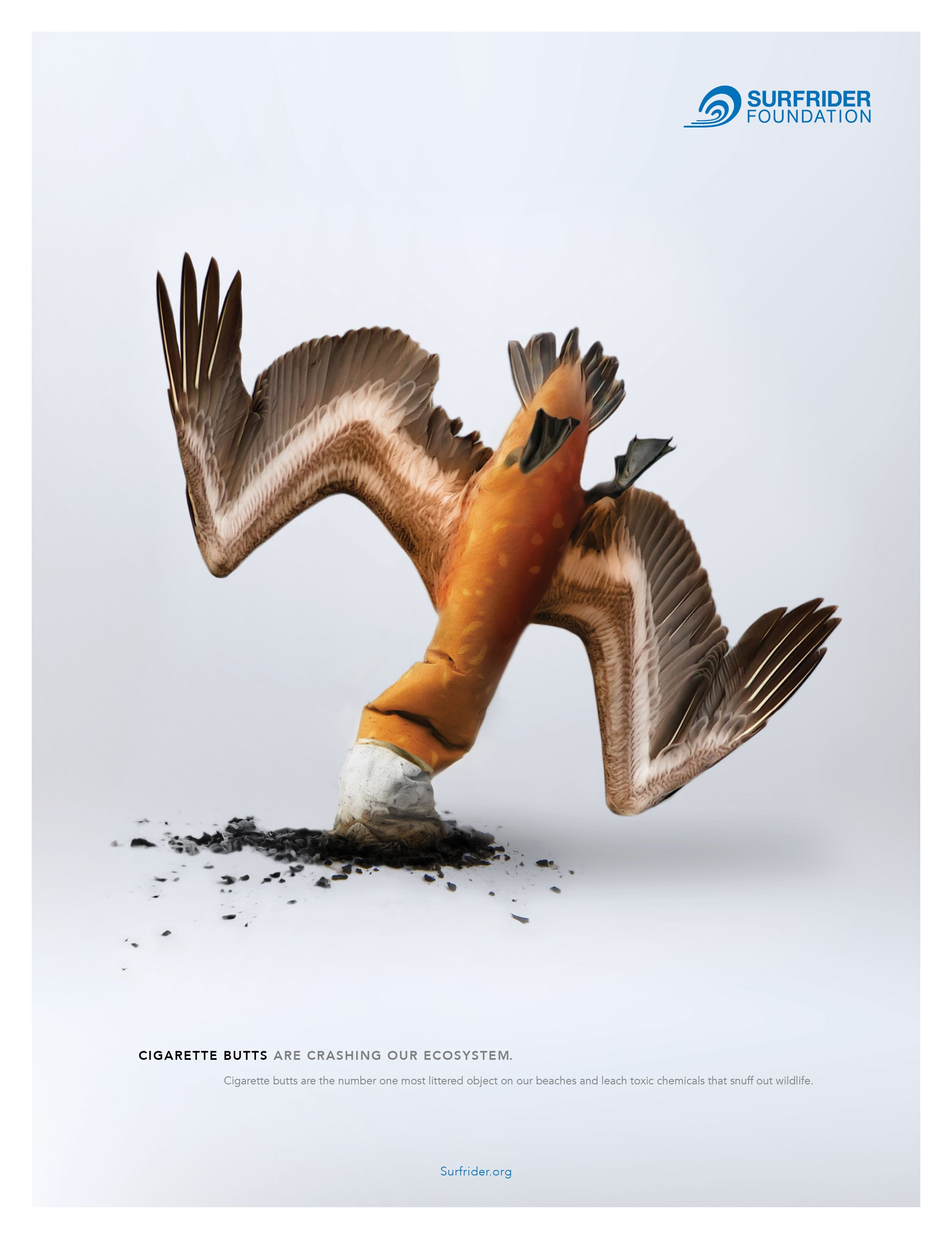 print advertisment created by gyro united states for surfrider