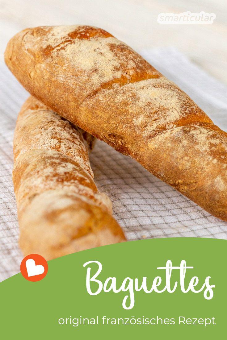 Echtes französisches Baguette backen - einfaches Rezept