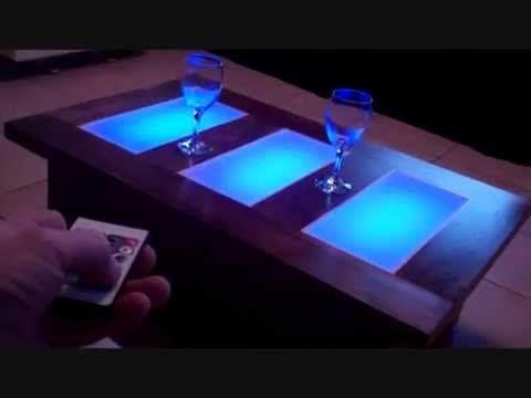 coffee table led lights unusual modern