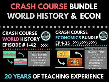 Crash Course World History Ep 1 42 Economics Ep 1 35 Tpt