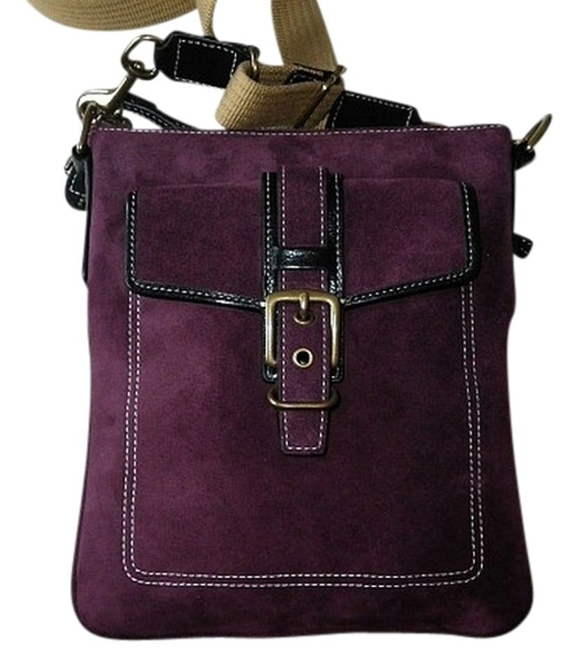 Coach Hamilton Purple Fine Suede Leather Swingpack Bag Purple ...