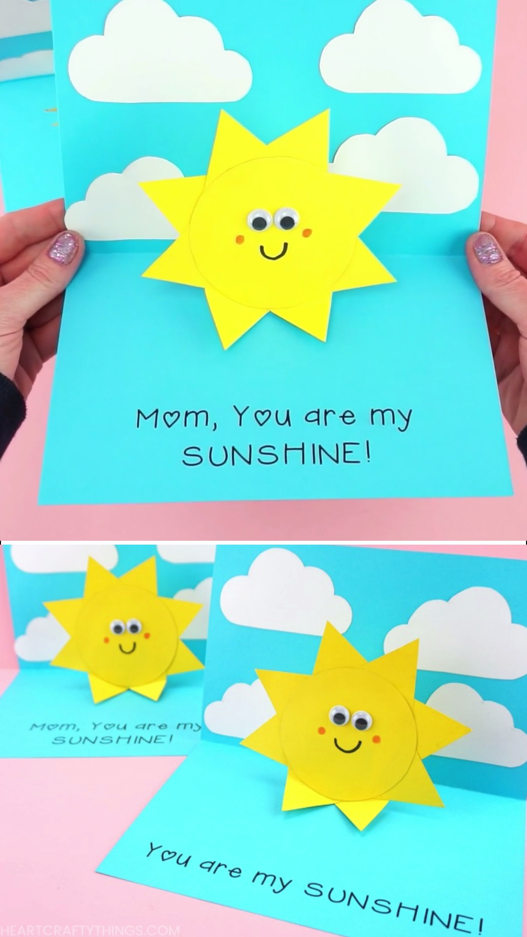 How to Make a You are my Sunshine Card You are my Sunshine Card Easy Pop Up Sun Card Template Simple and easy You are my Sunshine Card for kids to make for Mothers Day Fa...