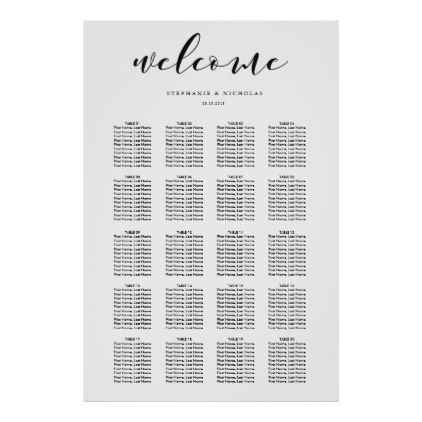 Hand Letter Chic Wedding Seating Chart Weddings Wedding planning