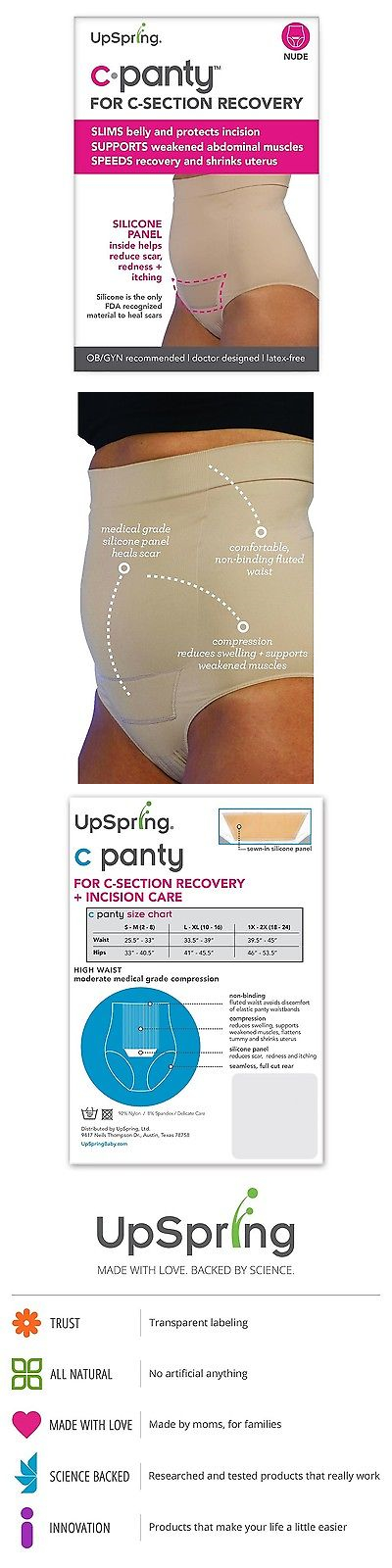 Panties 117769: Upspring C-Panty High Waist C-Section Recovery And Slimming Underwear Nude -> BUY IT NOW ONLY: $49.82 on eBay!