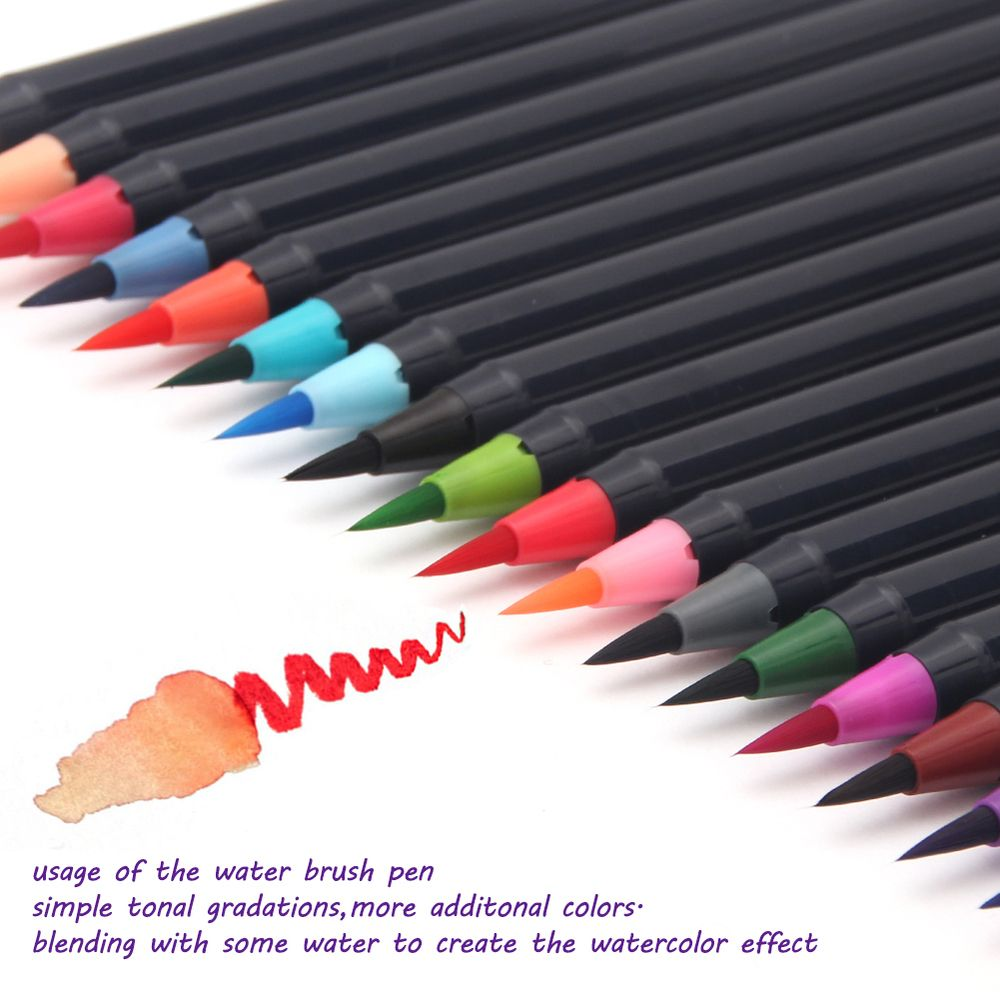 Watercolour Brush Pens Set Of 20 Brush Pen Watercolor Brush