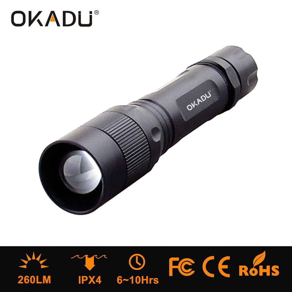 500lm aluminum alloy Outdoor Camping Hiking Zoom LED Torch Flashlight Handheld