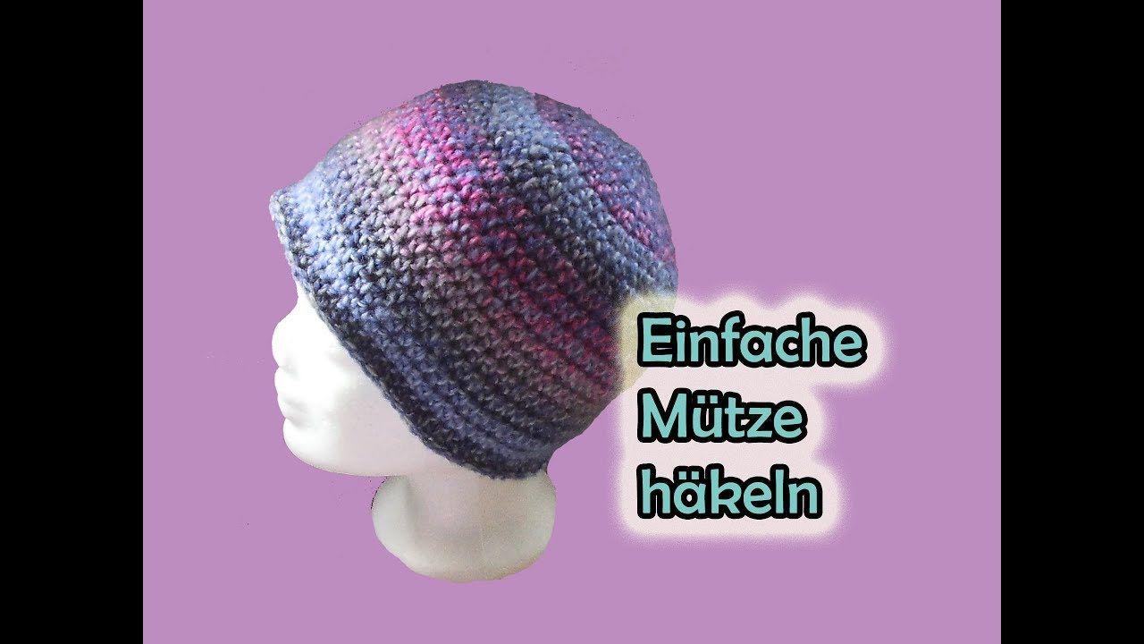 Einfache Mütze häkeln - Romy Fischer Häkelanleitung | Stricken und ...