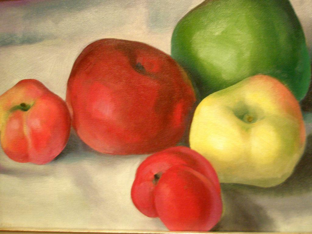 Georgia O\'Keeffe \'Apple Family 3\', 1921, Milwaukee Museum of Art ...