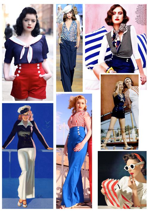 Tara Starlet 1940s 40s Style: Tara Starlet Goes Nautical. Yes Please!