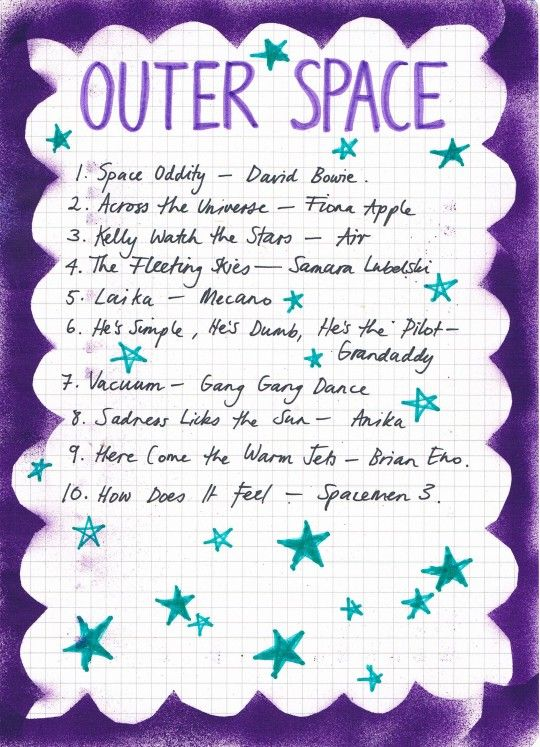 Friday Playlist: Outer Space | Rookie | Music lyrics, Song playlist