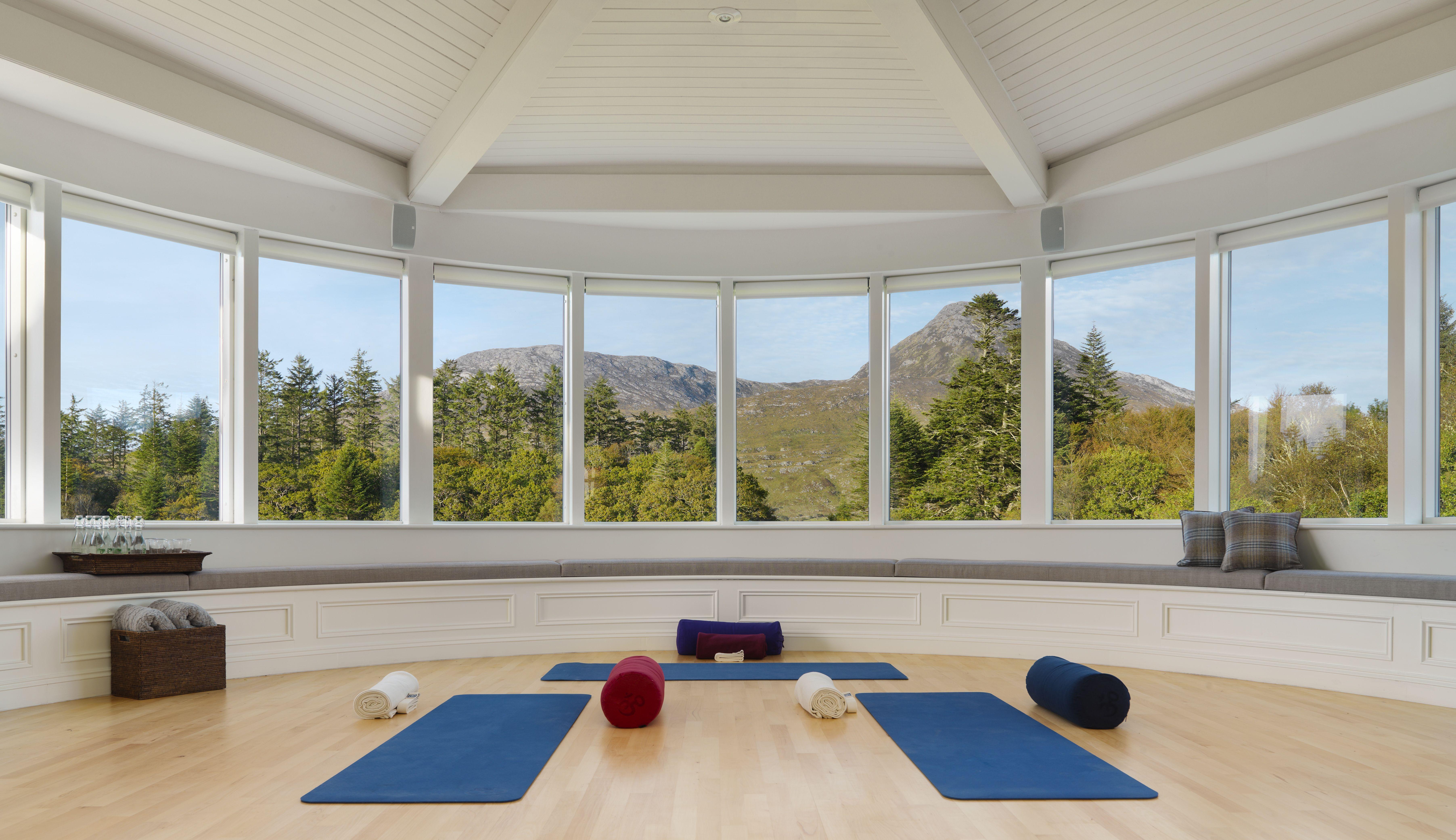 Yoga Studio Gym At Ballynahinch Castle Hotel Castle Hotel Hotel Castle