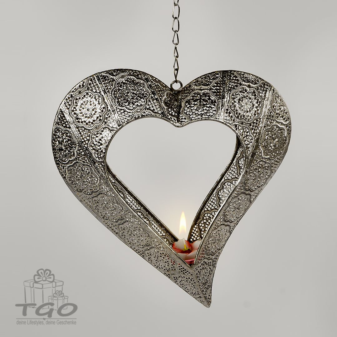 Formano Teelichthalter Blume Hanger Herz 75cm