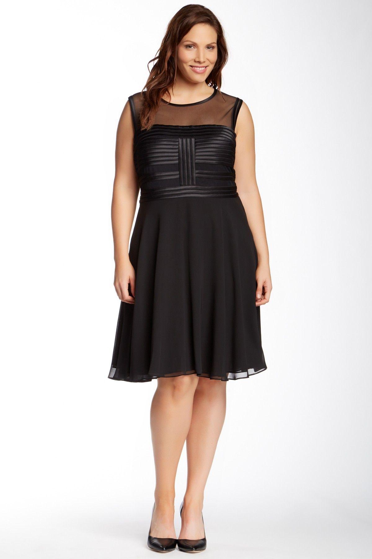 Julia Jordan   Julia Jordan Chiffon Ruffle Dress (Plus Size)   HauteLook