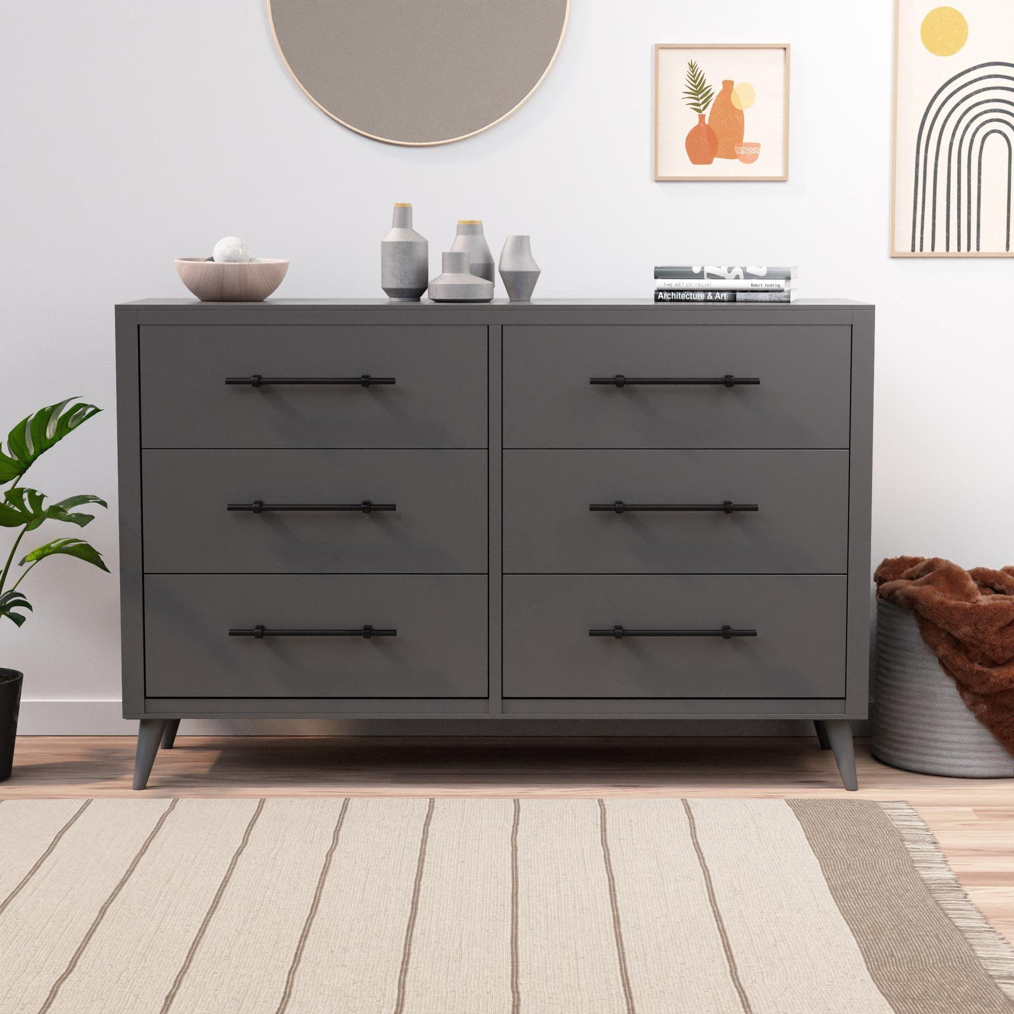 Rest Haven Mid Century Modern 6 Drawer Dresser White Walmart Com In 2021 Black Bedroom Furniture Black Dresser Bedroom Dresser Decor Bedroom [ 2000 x 2000 Pixel ]