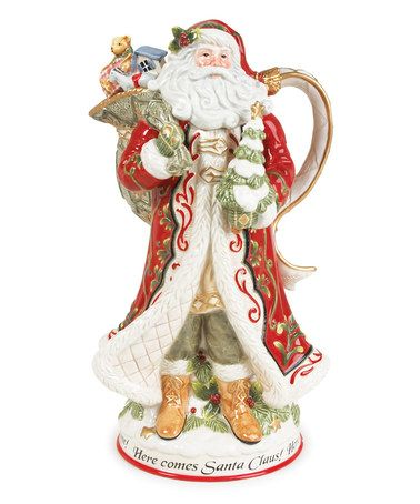 This St Nick Pitcher is perfect! #zulilyfinds Christmas
