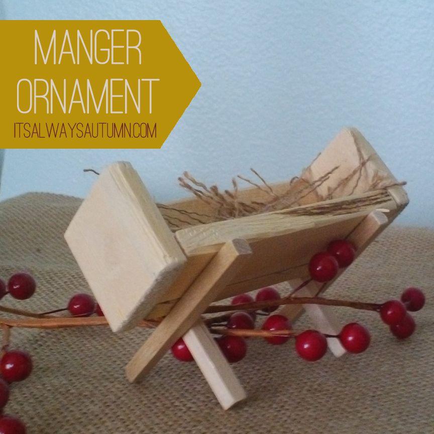 Diy felt baby jesus ornament wood manger ornament