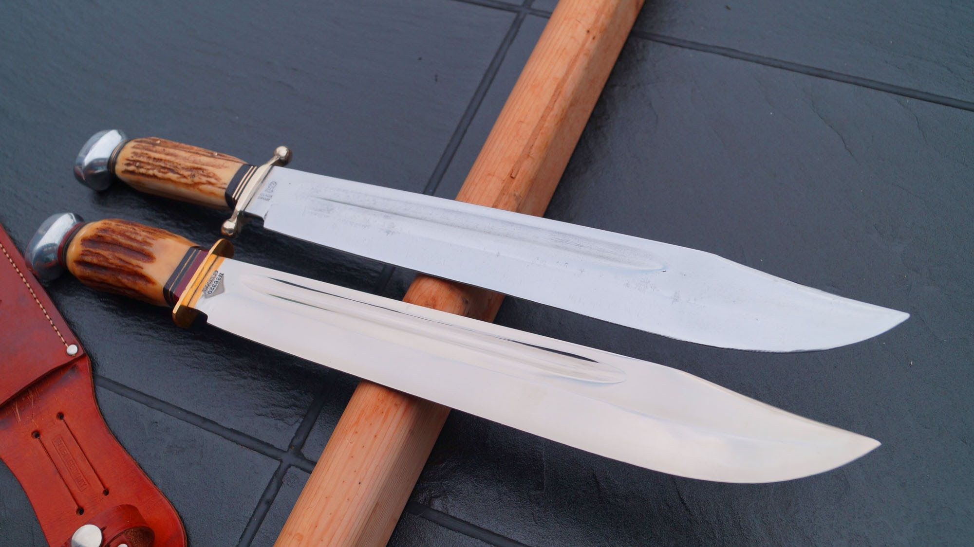 how to clean a rusty bowie knife