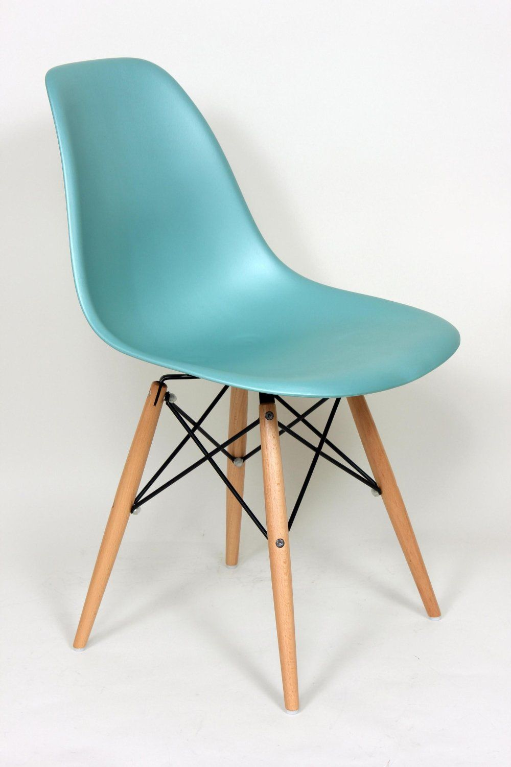 Amazon.com - Silver Blue Eames Style DSW Mid Century Plastic Molded ...