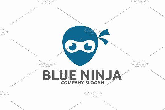 Blue Ninja Logo Templates by Brandlogo in Templates LogosLogo Template FeaturesAI and EPS (Illustrator 10 EPS) 300PPI CMYK by Brandlogo