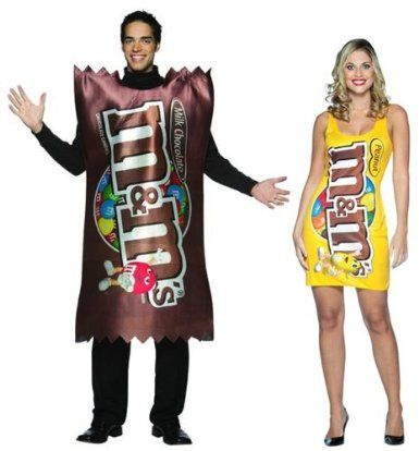 M Candy Plain  Peanut Couples Costume Set Only 2 left in stock - grown up halloween costume ideas