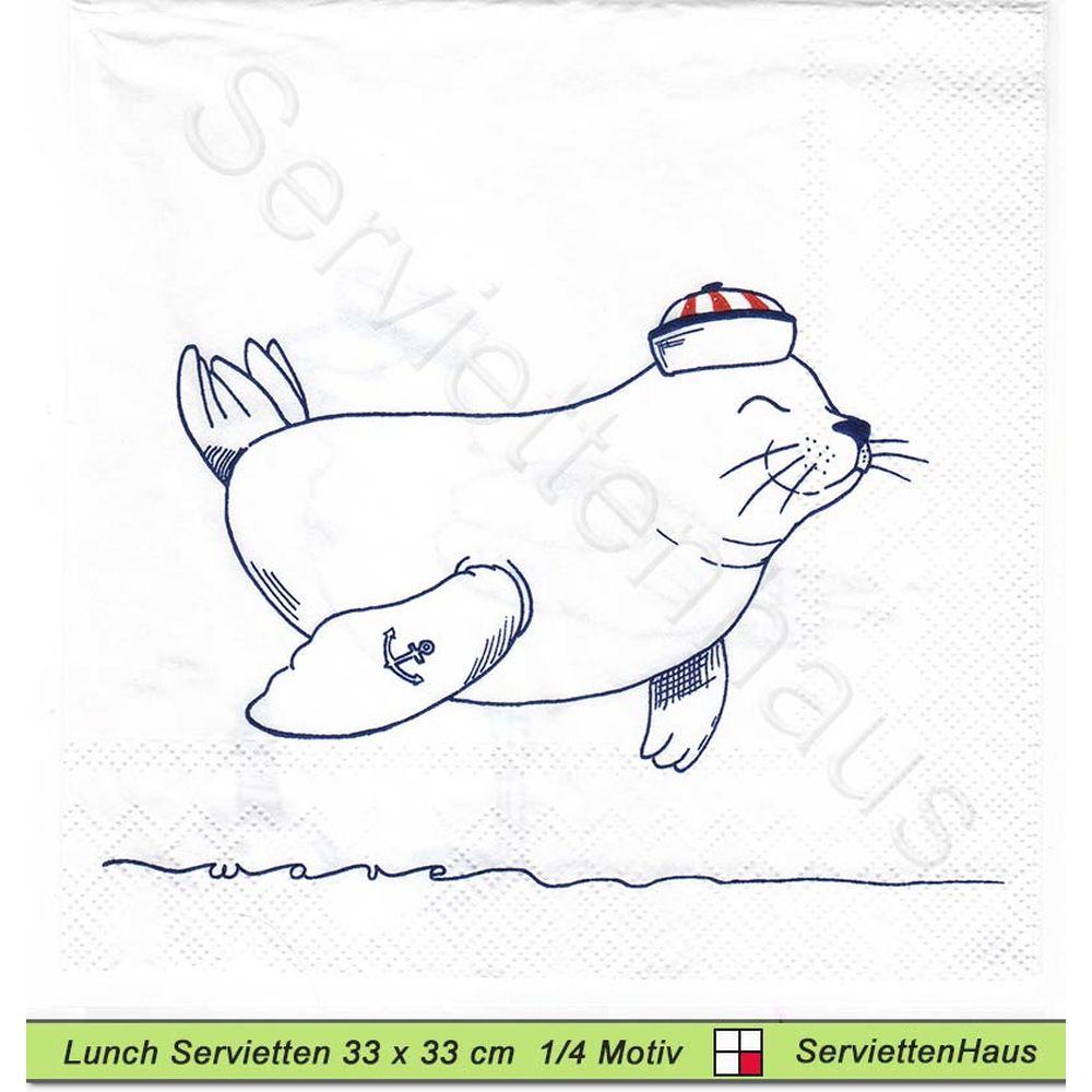 Mowe Seehund Und Leuchtturm 1 Lunch Serviette Leuchtturm Seehund Kleine Vogel