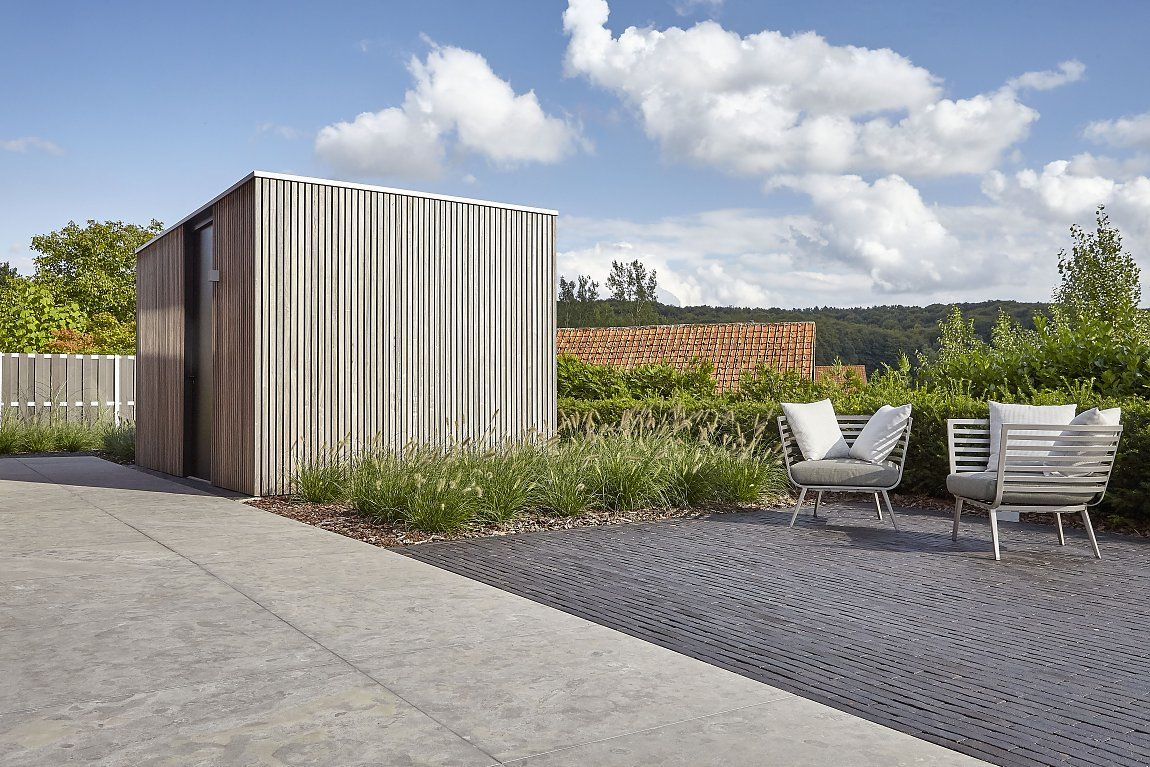 Verbazingwekkend moderne wellness | Tuinhuis, Tuinhuizen, Tuin architectuur GN-75