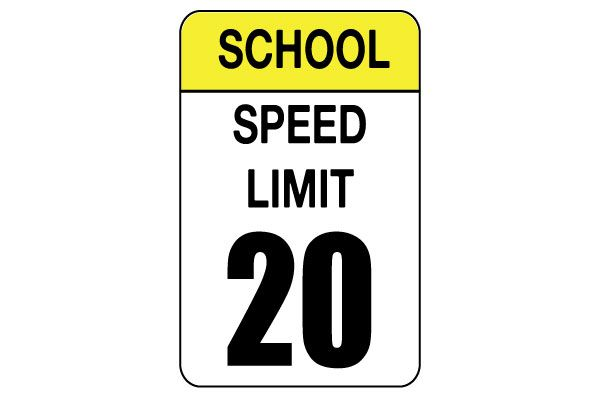 Printable School Speed Limit Sign Free PDF Download Speed Limit