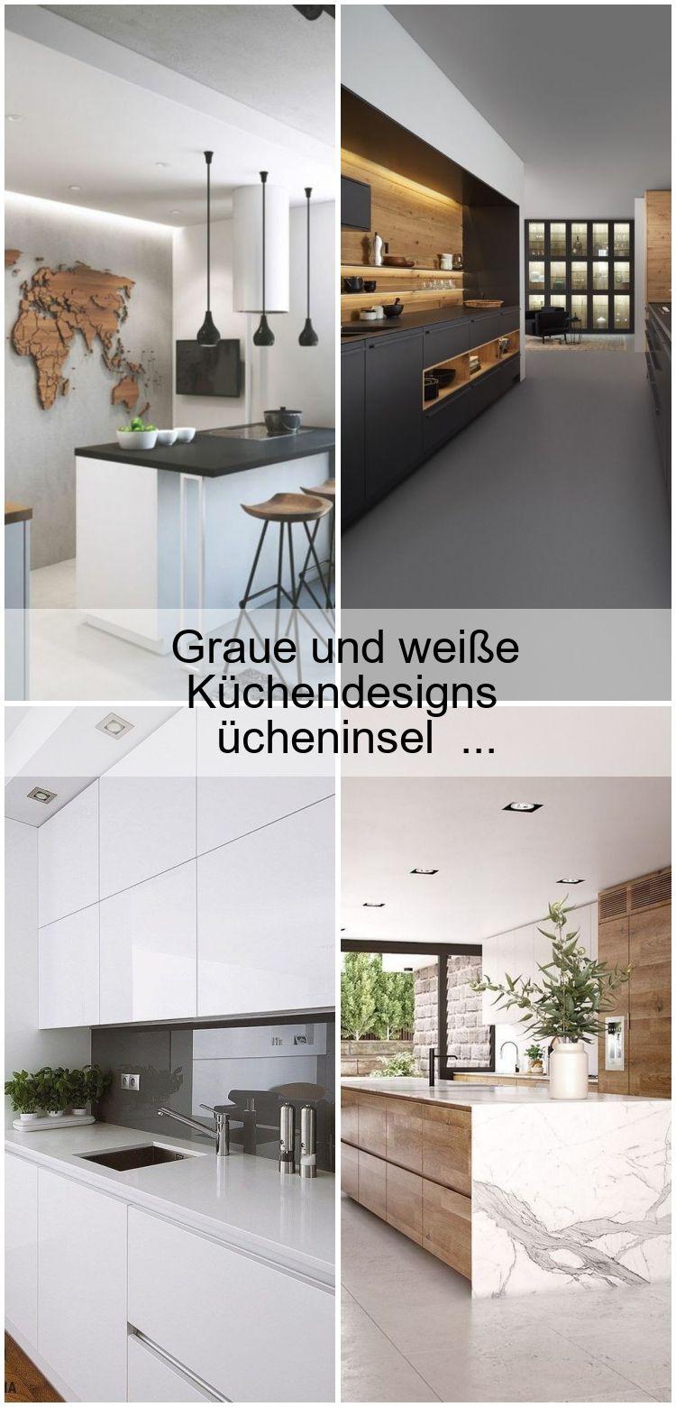 Graue Und Weisse Kuchendesigns Moderne Kucheninsel Kochinsel Arbeitsplatte Kuchen Design Kuchendesign Moderne Kuche
