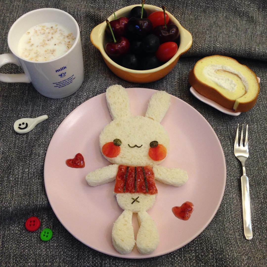 Cute Rabbit Breakfast By Sagnny Food Pinterest Shrimp Roll Bento Isi 10 Meals