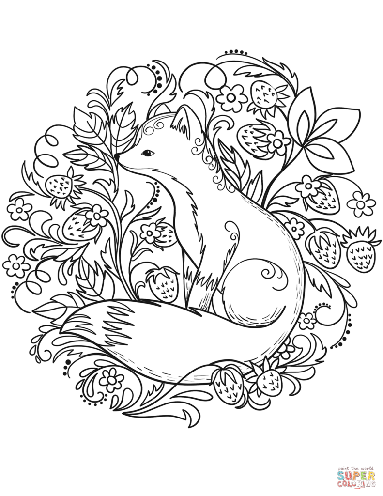 Coloring Rocks Fox Coloring Page Valentines Day Coloring Page Valentine Coloring Pages