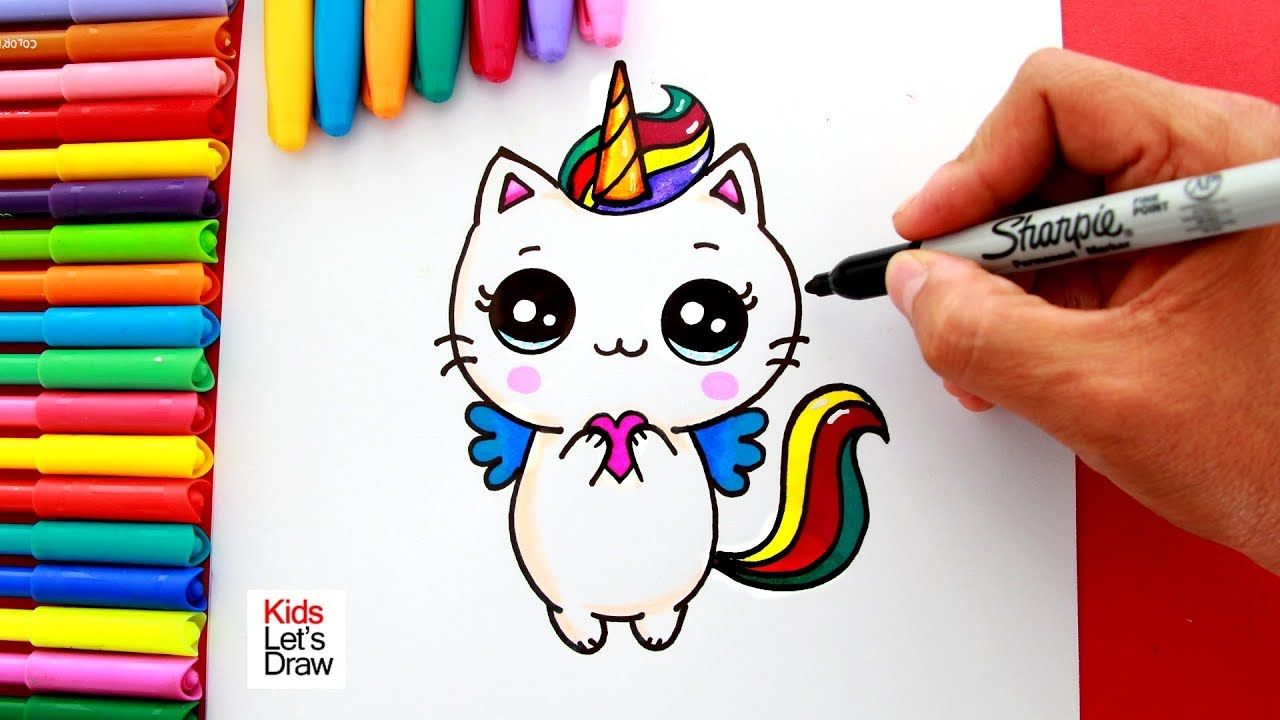 Aprende A Dibujar Y Pintar Un Gato Unicornio Kawaii How To Draw A Cute Kitten Unicorn Youtube Kitten Drawing Kawaii Drawings Cute Drawings