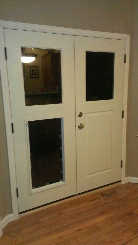 custom made xl french doggy door