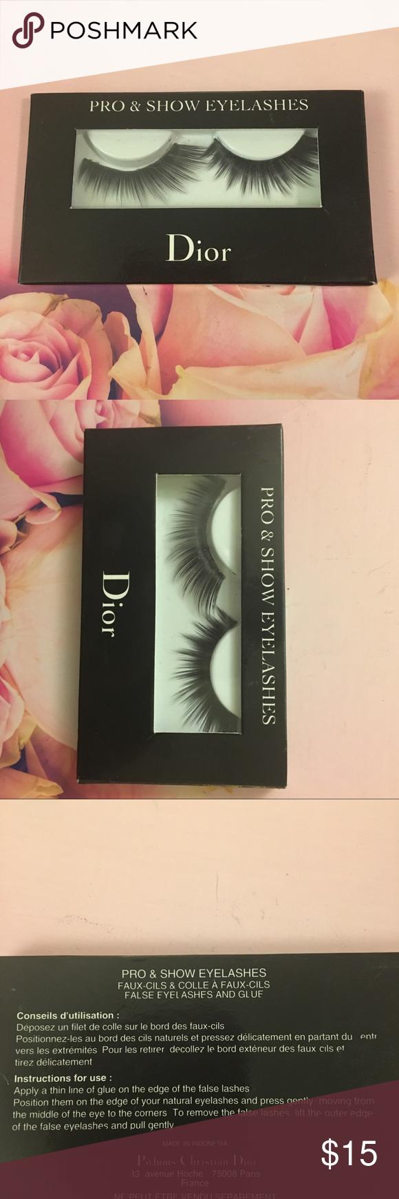 Dior Eyelashes New In Box Christian Dior False Lashes Dior Makeup