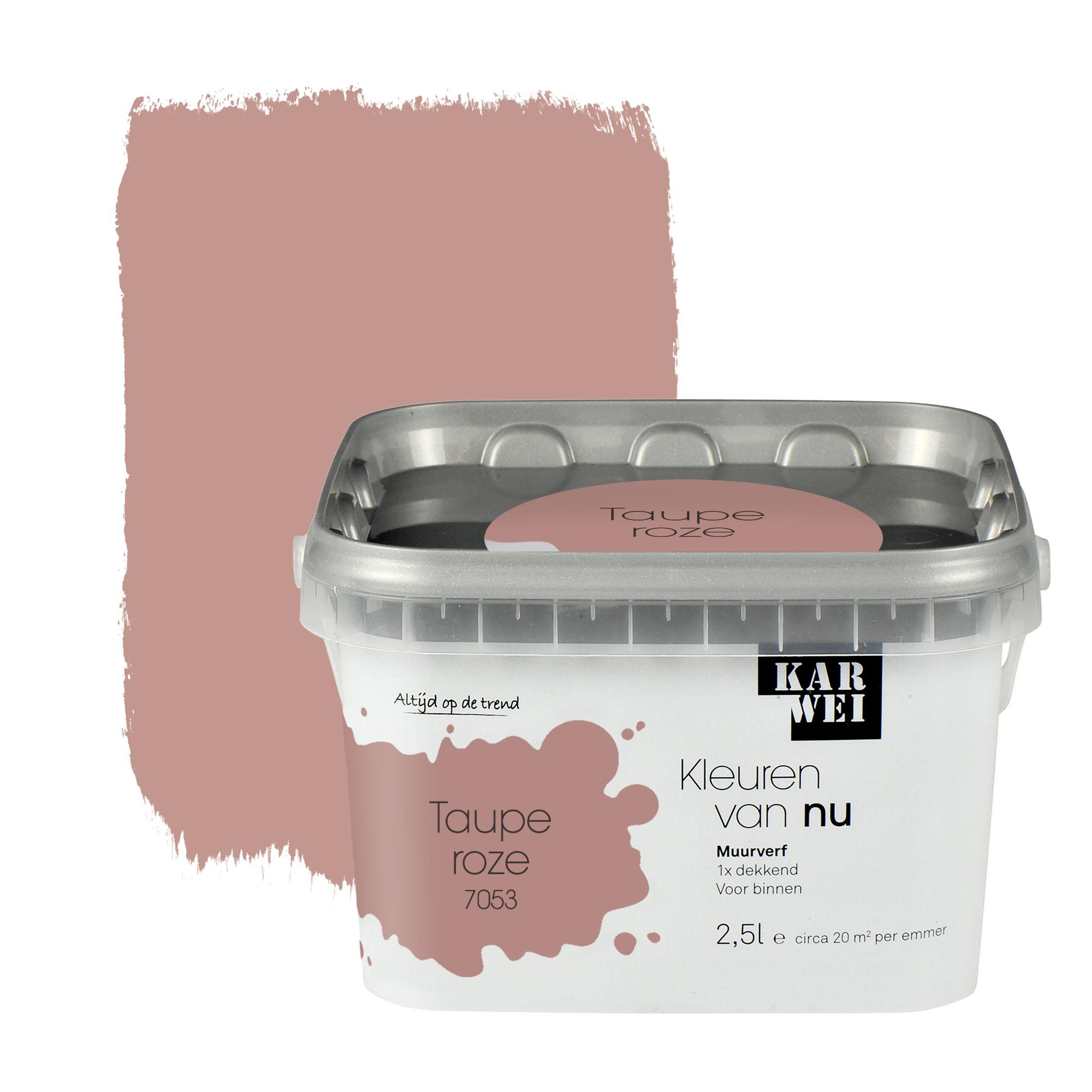 KARWEI Kleuren van Nu muurverf mat tauperoze 2,5 l kopen? | Karwei