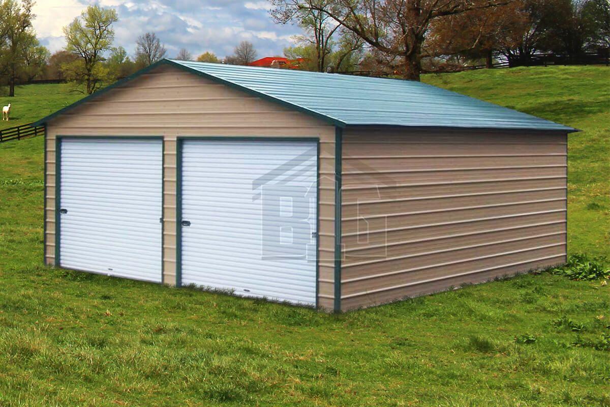 The Sting Metal Garage 18x25x9 Metal garages, Metal