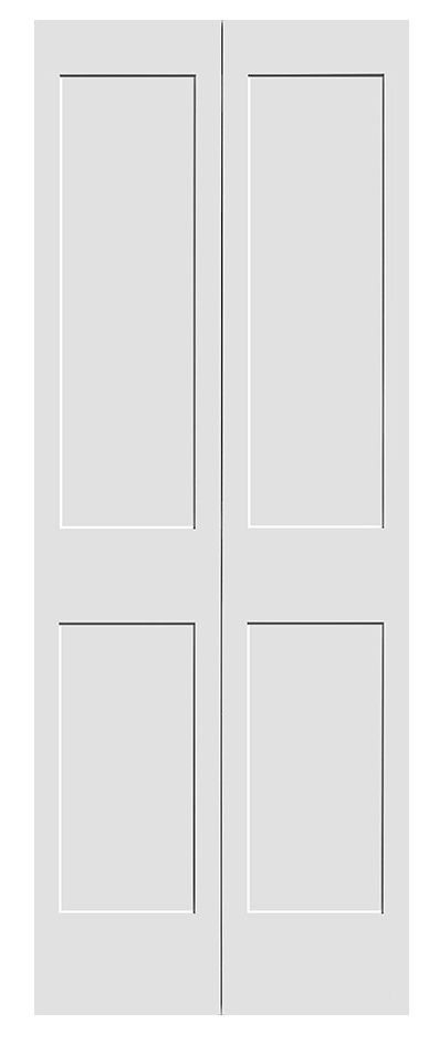 Interior doors pre hung shaker collection painted - Pre painted white interior doors ...