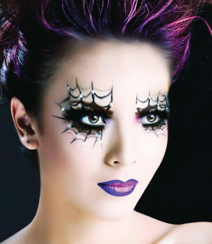 maquillaje bruja ejemplo vanguardista colores de la gama lila decoracin en los ojos - Maquillaje Bruja