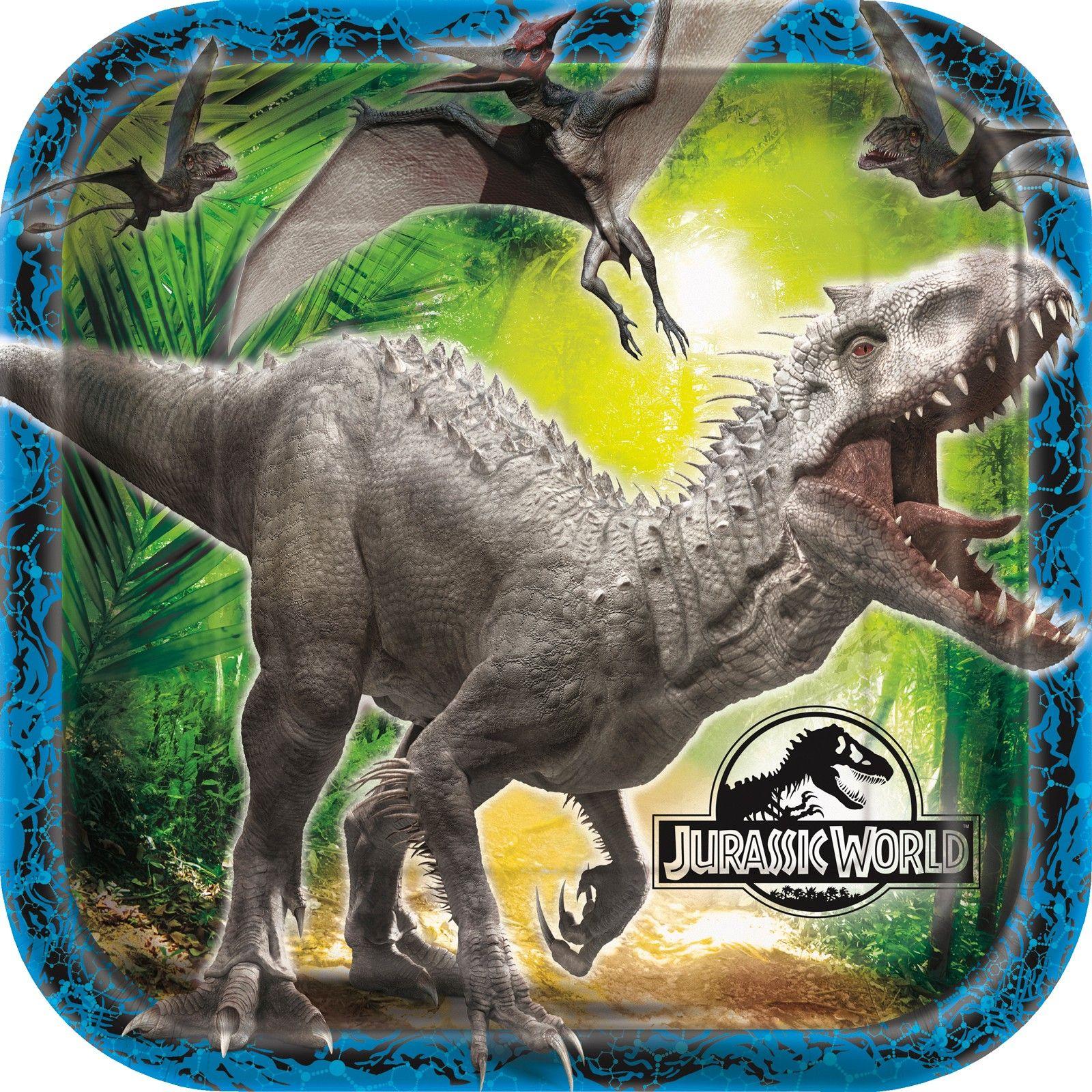 Jurassic World Square Dinner Plates
