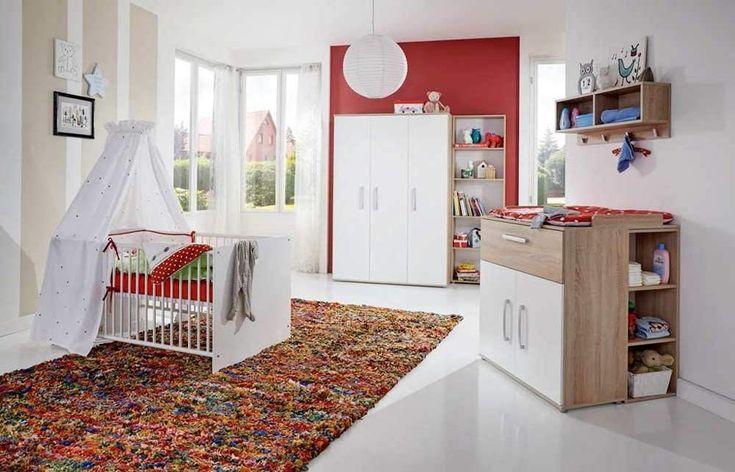 Babyzimmer Komplettset in Weiß besteht aus 4 Teilen