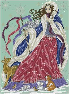 Королева схемы вышивки крестом