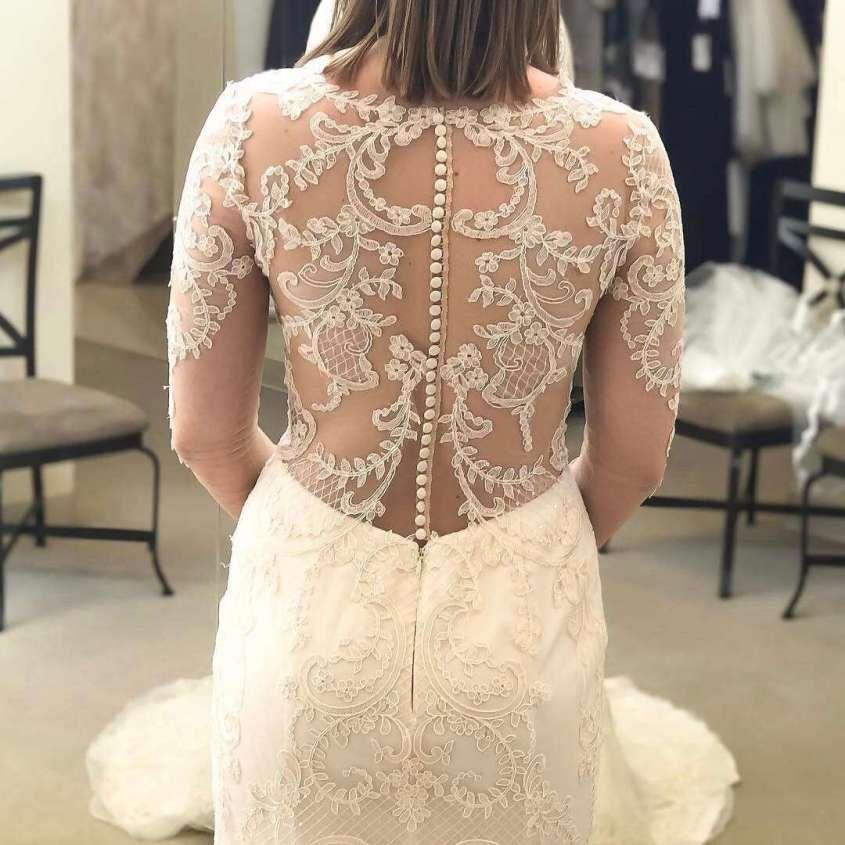 Vestidos de novia Demetrios: Mejores modelos [FOTOS] - Detalle de espalda de vestido de novia Demetrios