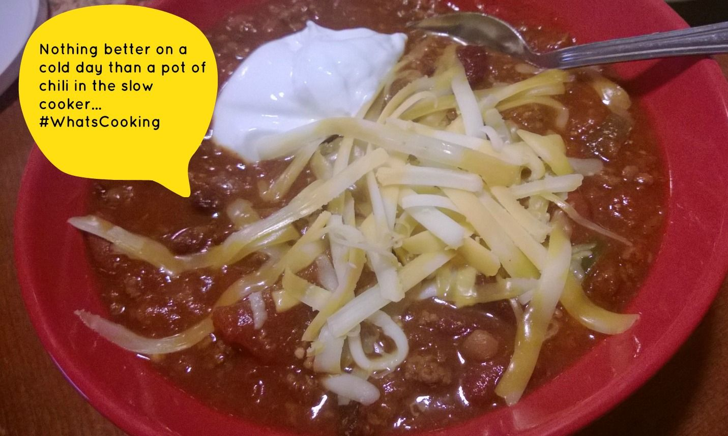 Delicious slow cooker chili recipe #whatscooking