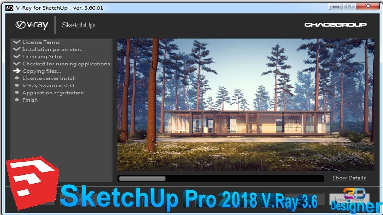 How To Install Vray 3 6 For Sketchup 2018 Free V Ray Free