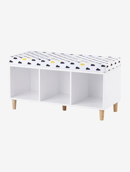 meuble de rangement banquette blanc vertbaudet enfant. Black Bedroom Furniture Sets. Home Design Ideas