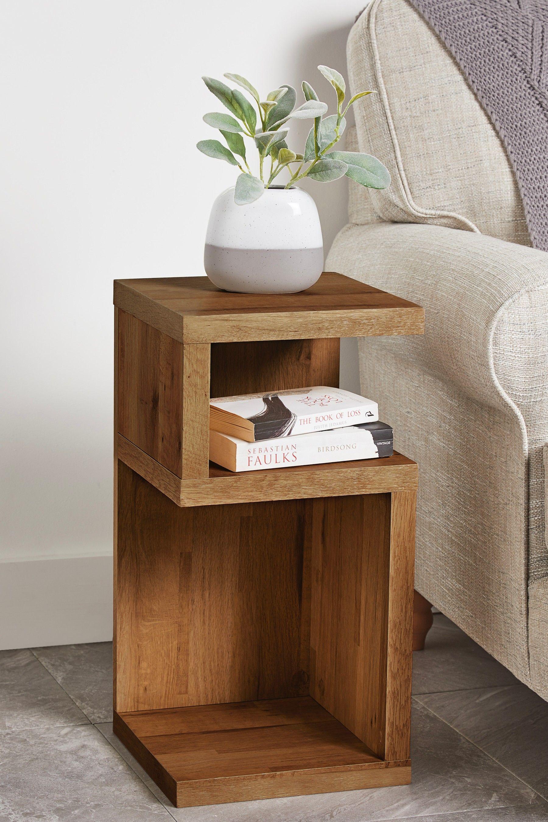 Bronx S Side Table Oak Bedroom Furniture Diy Home Decor