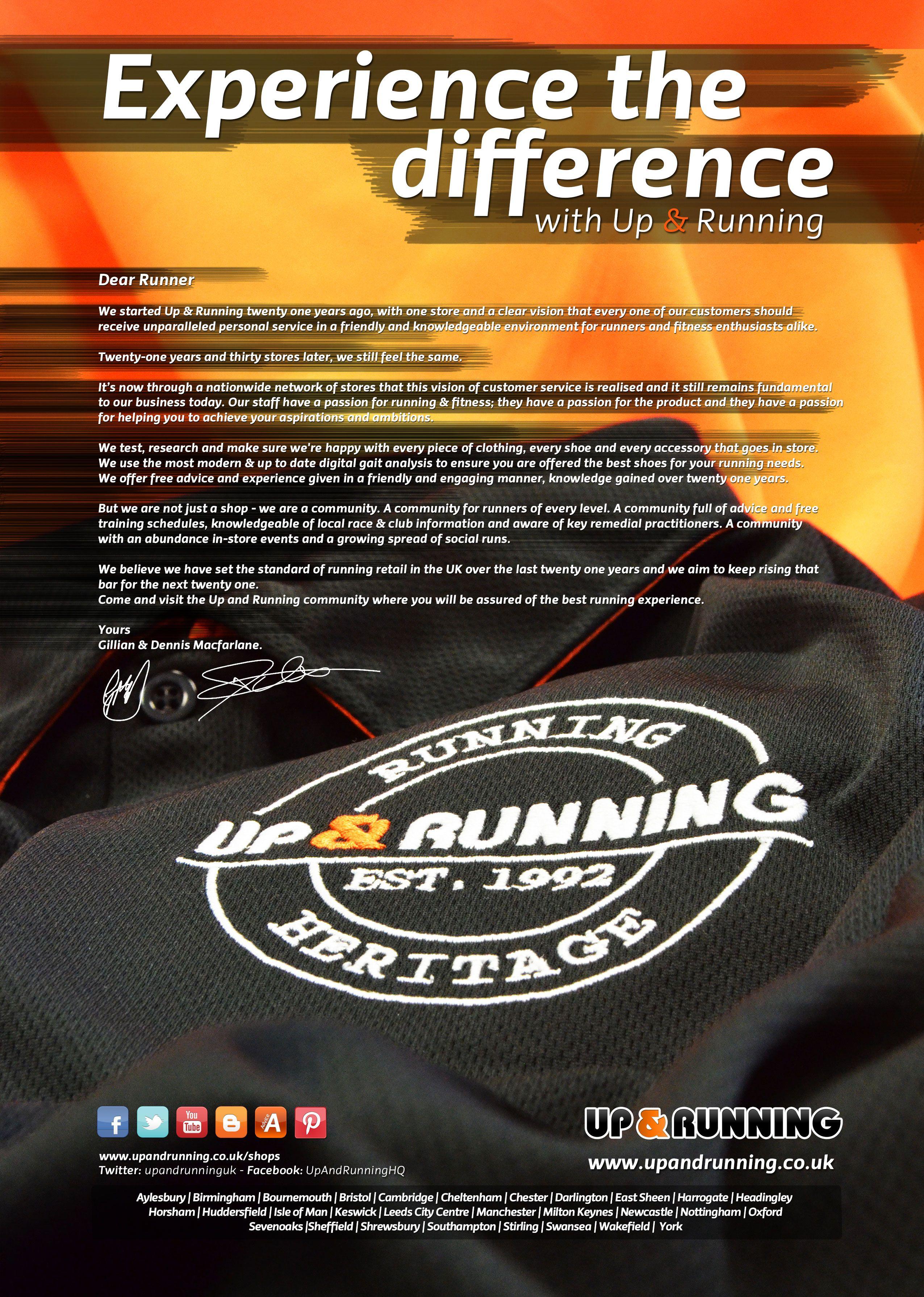 Men's and Women's Running advert - July