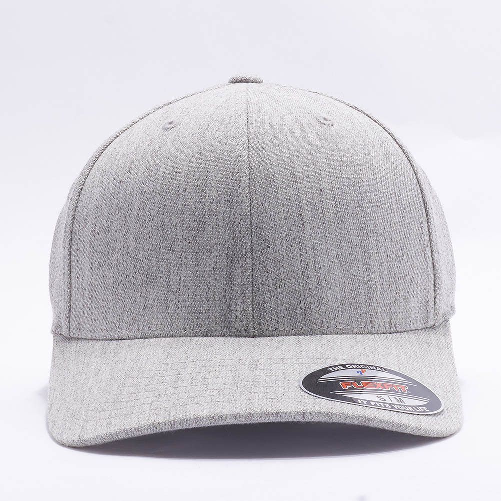 ... available 7fef8 d8d14 Wholesale FlexfitYupoong 6477 Flexfit Wool Blend  Hat Heather Grey ... 9786911f81a6