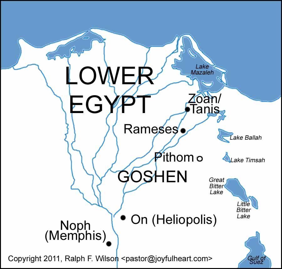 Ramesespithom Bible Maps Pinterest Bible - Map of egypt during ramses