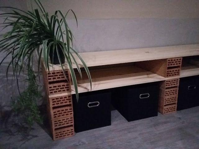 etag re style industrielle comment faire bois boite rangement brique brique rouge. Black Bedroom Furniture Sets. Home Design Ideas